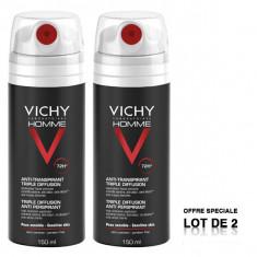VICHY Homme Déodorant Anti-Transpirant 72H Triple diffusion 2x150ml