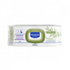 MUSTELA Lingettes Nettoyantes à l'Huile d'Olive 50 Lingettes
