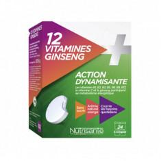 NUTRISANTE 12 Vitamines + Ginseng 24 comprimés