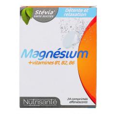 MAGNESIUM + VITAMINES B1 B2 B6 NUTRISANTE x 24