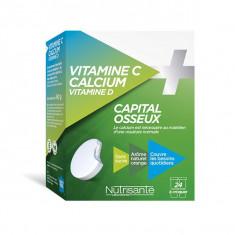 NUTRISANTE Vitamine C + Calcium Vitamine D 24 comprimés