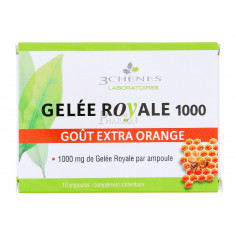 GELEE ROYALE 1000 3 CHENES ORANGE x 10 AMPOULES