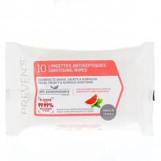 PREVENS Lingettes Antiseptiques Pamplemousse / Menthe x10 lingettes