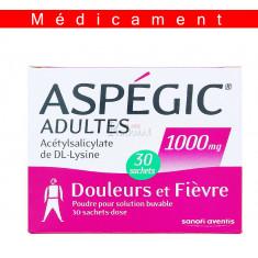 ASPEGIC ADULTES 1000 mg, poudre pour solution buvable en sachet-dose -  30 sachets