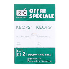 KEOPS DEODORANT A BILLE ROC 30ML x 2