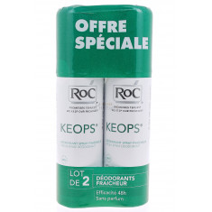 KEOPS DEODORANT SPRAY FRAICHEUR ROC 100ML x 2