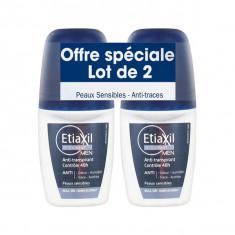 ETIAXIL Déodorant Men Anti-Transpirant 48h Roll-On 2x50ml