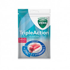 VICKS Bonbons Triple Action Sans Sucre 72g