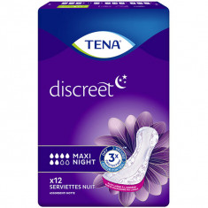 TENA Discreet Maxi Night Protection pour Fuites Urinaires x12 serviettes