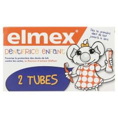 ELMEX DENTIFRICE ENFANT DENT DE LAIT 2 x 50ML