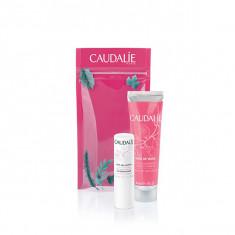 CAUDALIE - DUO HIVER ROSE DE VIGNE - Crème Gourmande Mains 30ml + Stick Lèvres 4,5g