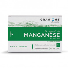 GRANIONS DE MANGANESE 0,1 mg/2 ml, solution buvable en ampoule